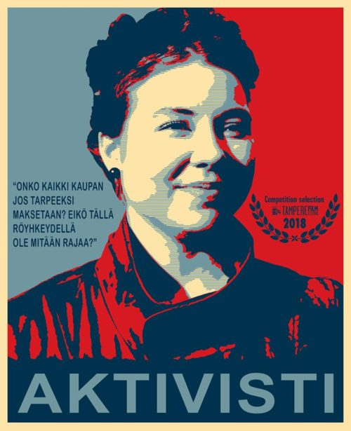 Plakát k filmu Aktivisti promítaného v rámci festivalu Jeden svět
