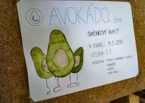 Svačinkový bufet Avokádo